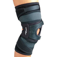 The Tru-Pull PF Knee brace is indicated for patella dislocation and/or subluxation. For symptomatic pain relief of patellofemoral dysfunction including subluxation/dislocation, mal-tracking and patellar tendonitis. It is comprised of neoprene and plastic/rubber straps.