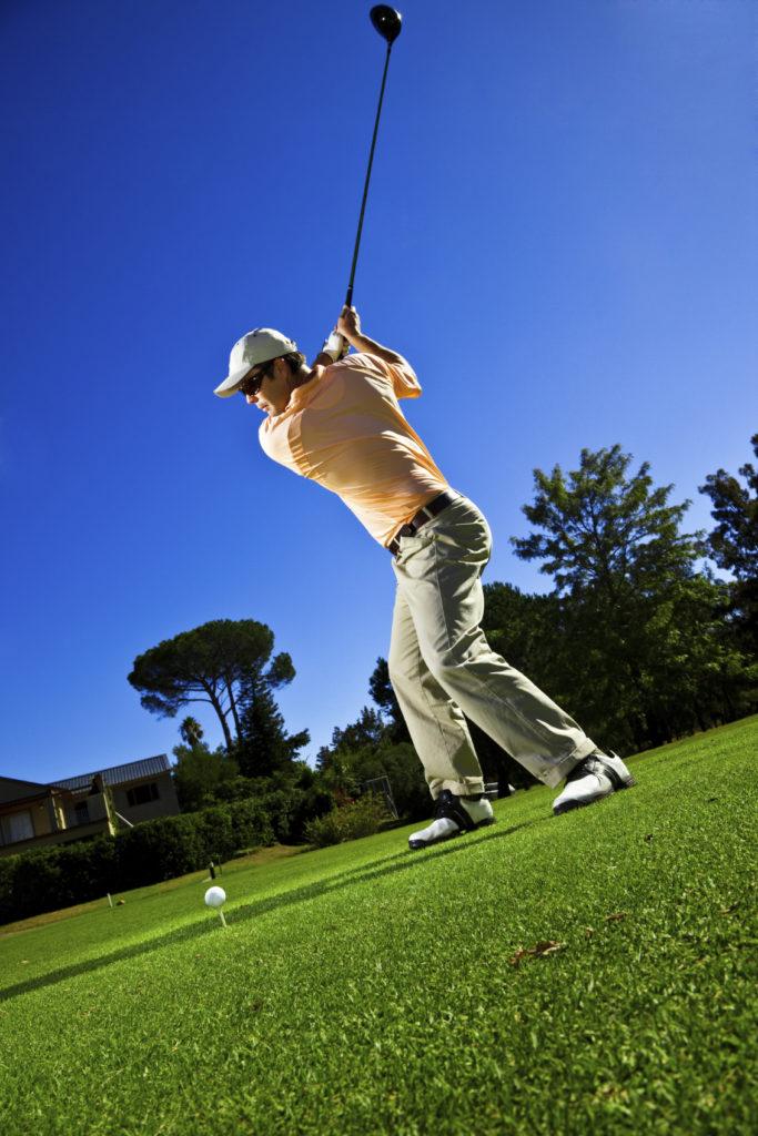 active golfer