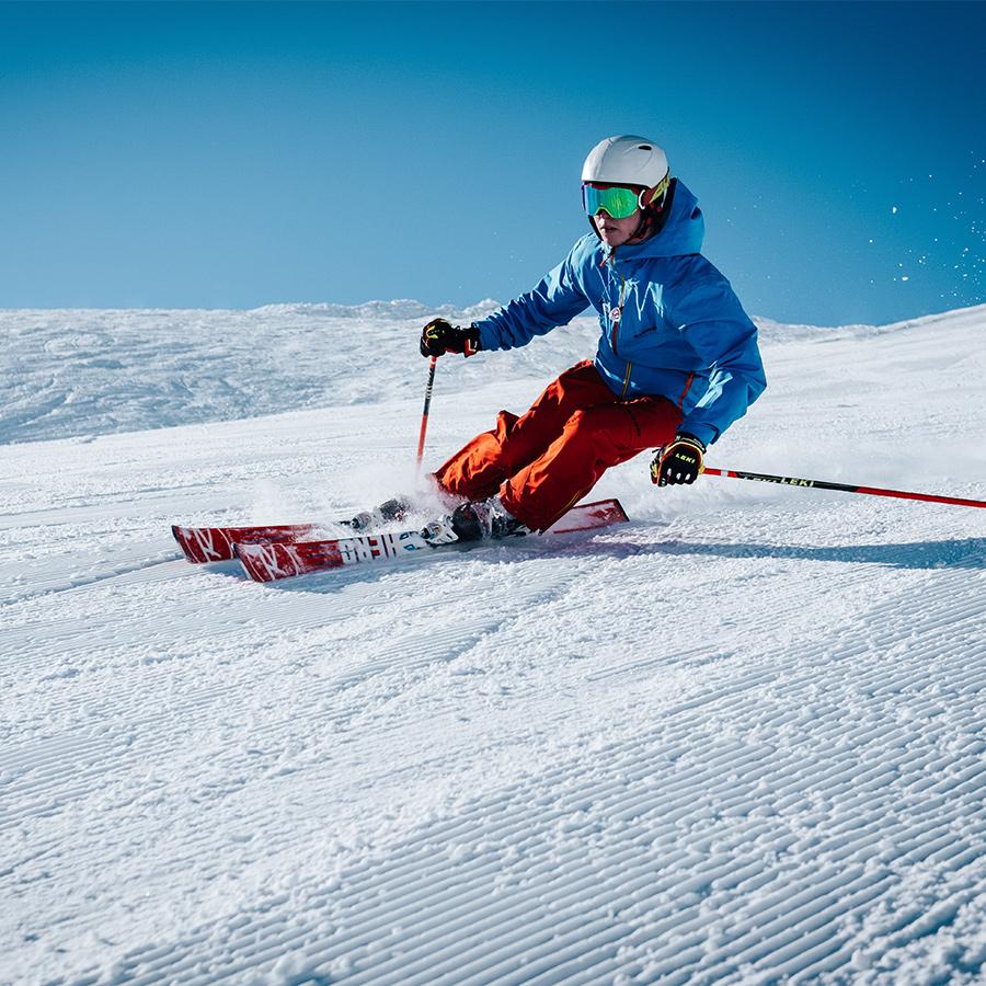 Skiier in winter