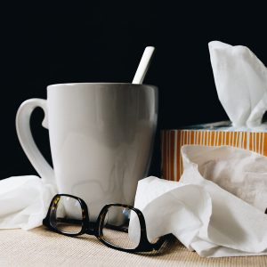 Mug tissue and glasses