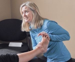 GRSM physiotherapist treating plantar faciitis